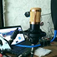 Микрофон-подарок (изображений 2)   Получил подарок. Теперь ко лбу линейку приделаю чтобы держать дистанцию.